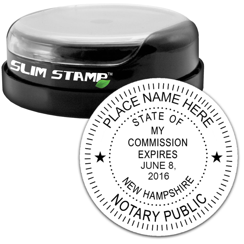Round Slim New Hampshire Notary Stamp