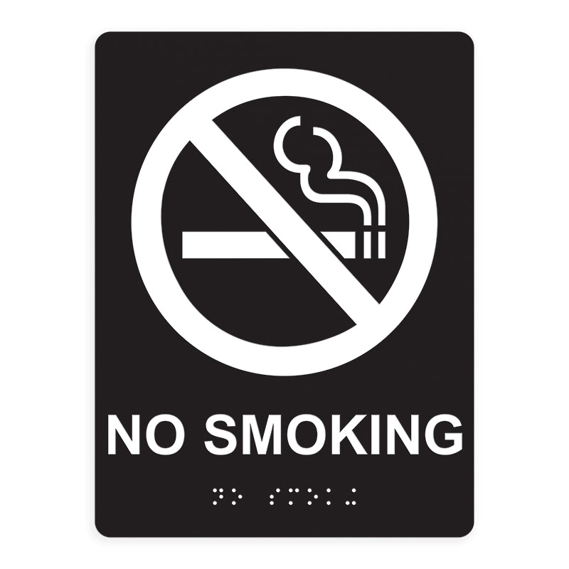 ADA Compliant No Smoking Sign