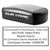 Slim Pennsylvania Notary Stamp