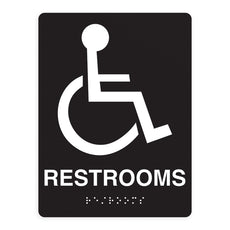 ADA Compliant Restrooms Sign