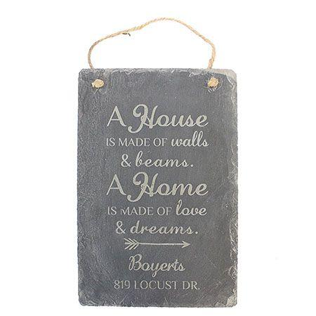House Address Engraved Slate Sign