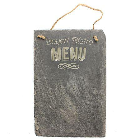 Menu Engraved Slate Sign