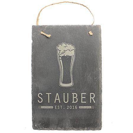 Beer Engraved Slate Sign