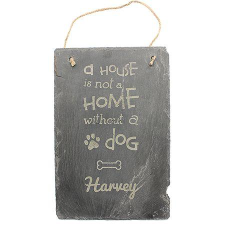 Dog Engraved Slate Sign