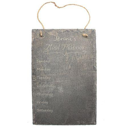 Meal Planner Engraved Slate Sign