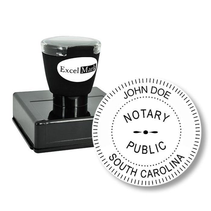 Round Pre-Inked South Carolina Notary Stamp