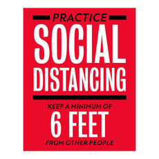 Practice Social Distancing Keep A Minimum Decal