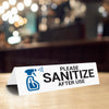 Please Sanitize After Use Tabletop Sign