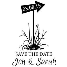 Save The Date Sign Stamp