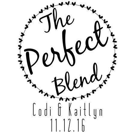 The Perfect Blend Custom Favor Stamp