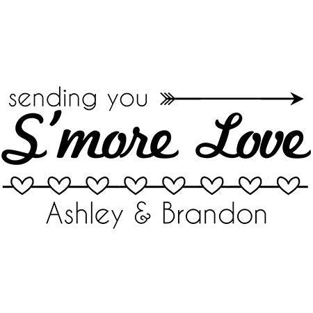 Sending You Smore Love Custom Favor Stamp