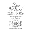 Postmark Save The Date Stamp