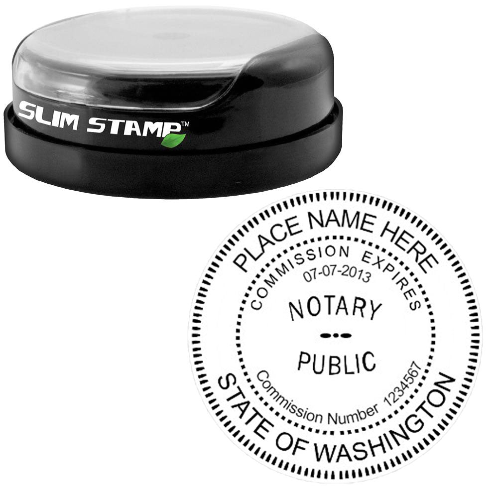 Round Slim Washington Notary Stamp