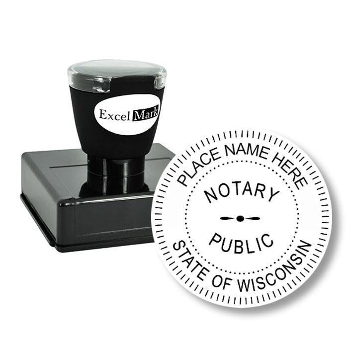 Round Pre-Inked Wisconsin Notary Stamp