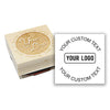 Square Wood Logo Stamp