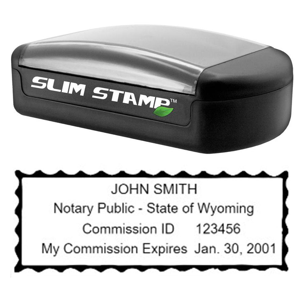 Slim Wyoming Notary Stamp
