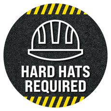Hard Hats Required Floor Decal