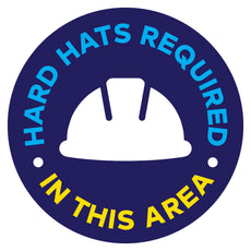 Hard Hats Required In This Area Floor Decal