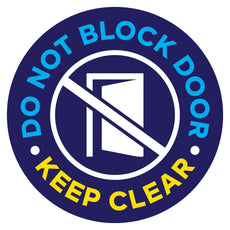 Do Not Block Door Keep Clear Floor Decal