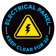 "Electrical Panel Keep Clear For 36"" Floor Decal"
