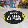 Black Keep Aisles Clear Floor Decal