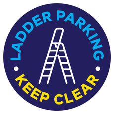 Blue Ladder Parking Keep Clear Floor Decal