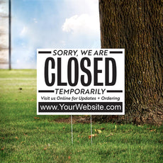 "24"" x 18"" Custom Closed Yard Sign"