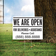 "24"" x 18"" Custom Open Yard Sign"