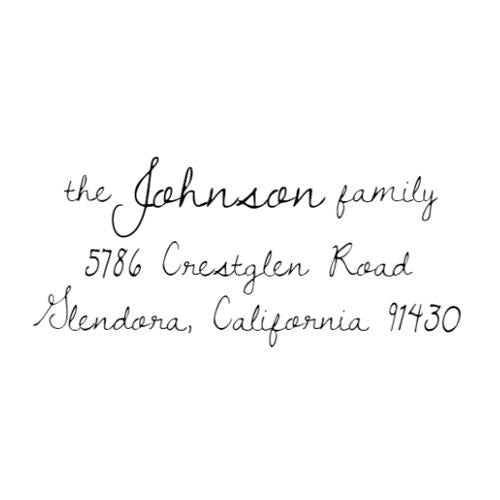 Artisan Address Stamp 20