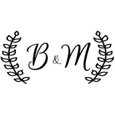 Olive Branch Initials Stamp