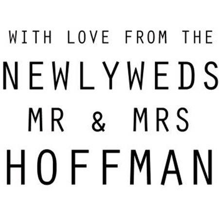 With Love From Newlyweds Stamp