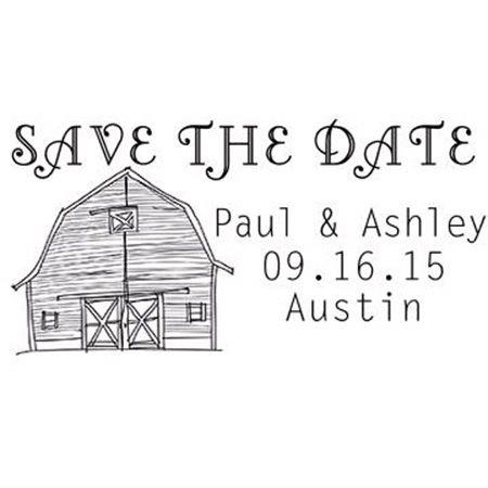 Barn Save The Date Stamp