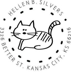 Cat Address Stamp