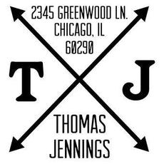 Arrow Monogram Address Stamp