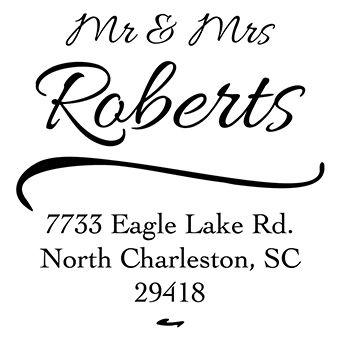 Mr and Mrs Address Stamp