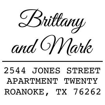 Simple Names Address Stamp