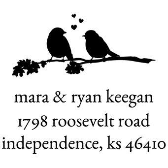 Love Birds Address Stamp