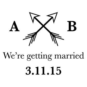 Were Getting Married Stamp