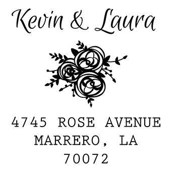 Rose Cluster Address Stamp