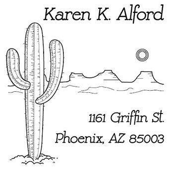Desert Address Stamp