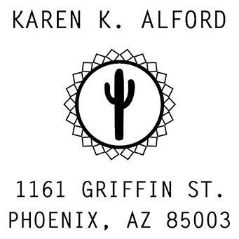Cactus Address Stamp