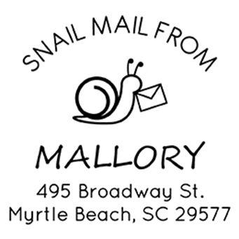 Snail Mail Address Stamp