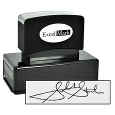 L Pre-Inked Signature Stamp