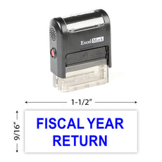 Fiscal Year Return Stamp