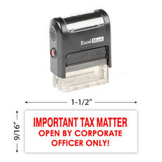 Important Tax Matter Stamp