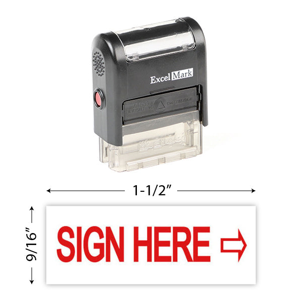 Sign Here Stamp
