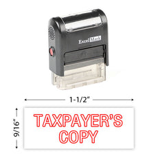 Taxpayer's Copy Stamp