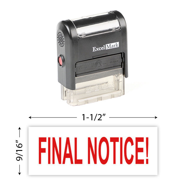 Final Notice! Stamp