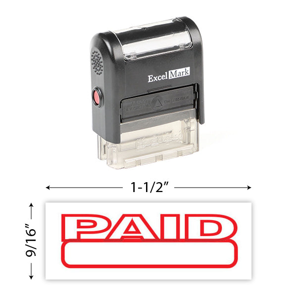Self-Inking Paid Stamp