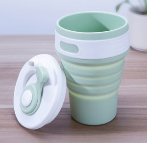 TravelTrace Silica Travel Folding Cup - tntongadgets